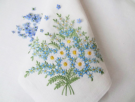 Set Of 3 Machine Embroidery Designs Daisies Amp Forget Me Nots