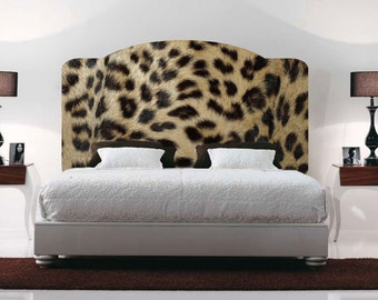 Leopard Headboards Decal, Animal Print Wall Decal Headboard, Headbaord Wall  Designs, Bedroom Headboard