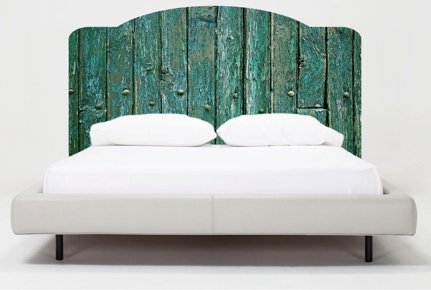 Bedroom headboard mural decals reusable headborads modern for Mural headboard