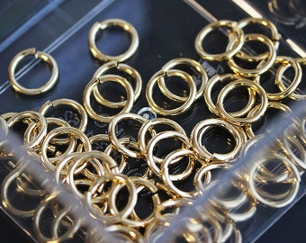 S4-261-G] 10mm / 18 gauge / Gold plated / Jumpring / 10g