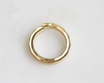 S4-136-1-G] 14mm / Gold plated / Flat Round Jumping / 4 piece(s)