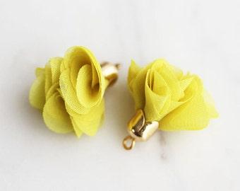 T9-020-G-MU] Mustard / 20mm / Poly Lace Tassel / 4 piece(s)