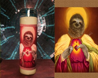 Saint Sloth Prayer Candle / Vigil Candle