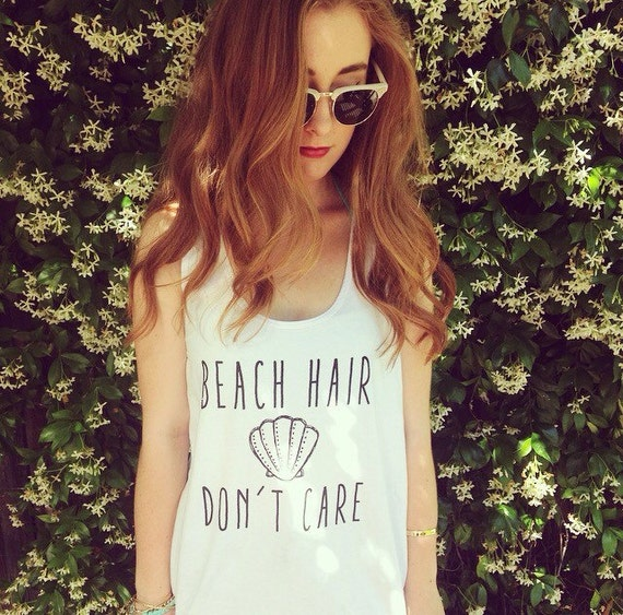 Items similar to Beach Hair Don't Care Tank Top on Etsy