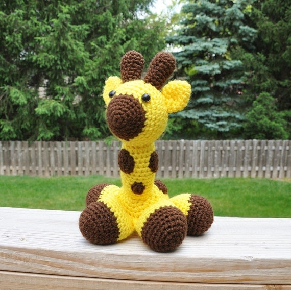 Amigurumi Stuffing : George the Giraffe Stuffed Crochet Toy Amigurumi Large