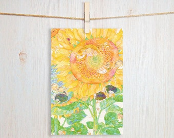 Sunflower Art Postcard