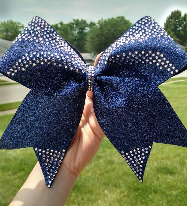 Custom rhinestone cheer bow you choose colors big by ...