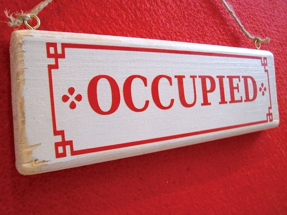Bathroom Occupied Sign Of Occupied Vacant Double Sided Bathroom By Fairleyuniquedecals