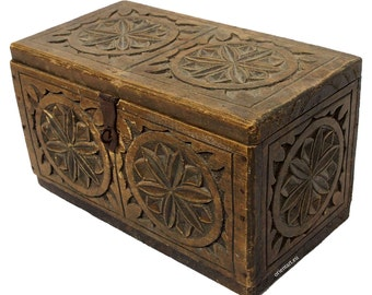 antique trinket box from Afghanistan / Nuristan No-J