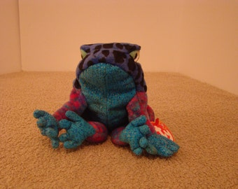 Ty Beanie Baby Dart Frog Mint with Tags