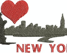 Digital Embroidery Designs - I love New York