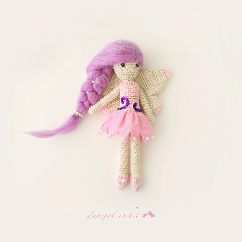Amigurumi Magic Doll : Crochet Doll Crochet Amigurumi Fairy Doll Handmade Toy