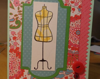 Dressmakers dummy card
