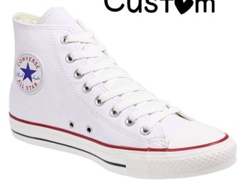 converse high tops white. custom converse high tops white