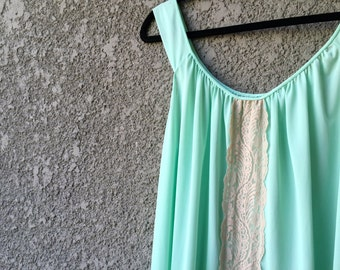 Light green slip dress