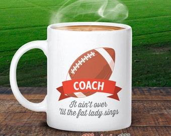 Football Coach, Football Mug, Football Coach Gift, Football, Football Gifts, Football Wedding, Football Party, Coach Thank You, Keepsake