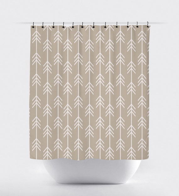 Like This Item Tan And White Arrow Fabric Shower Curtain High Quality