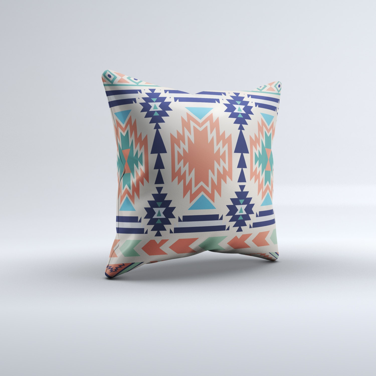 Blue Aztec Throw Pillows : Aztec throw pillow throw pillow modern pillow blue