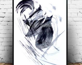 Black and White Art, Minimalist Art, Abstract Art Print, G iclee Print, Modern Art, Wall Decor, Black Abstract, Large Wall Print