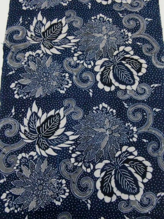 vintage Japanese indigo fabric KATAZOME AIZOME Free by ...