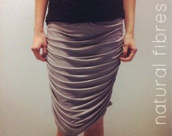 Natural Eco Bamboo Rouched Maternity Skirt