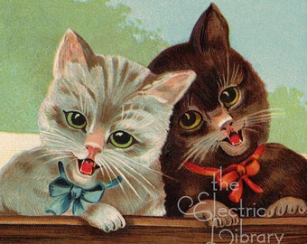 Laughing Kittens Digital Download: Two Happy Little Cats Spread the Joy