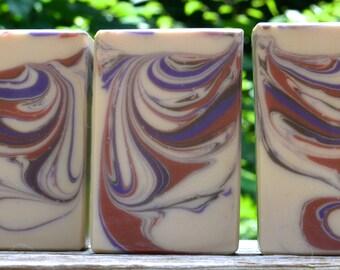 Soap, Handmade Soap, Black Cherry & Toasted Hazelnut Soap