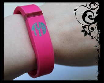 Set of 4 - Fitbit Band Personalized Monograms