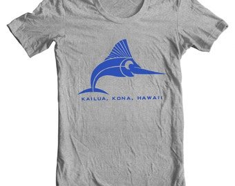 Kailua Kona Hawaii Vintage Travel Sticker T-shirt