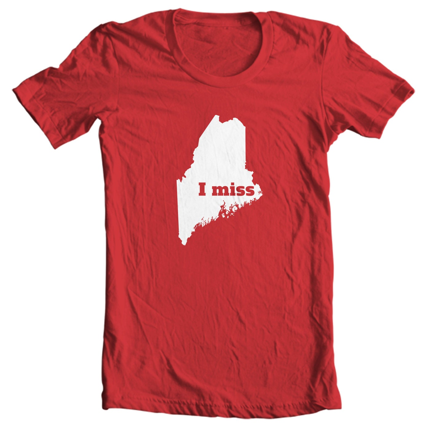 Maine T-shirt - I Miss Maine - My State Maine T-shirt