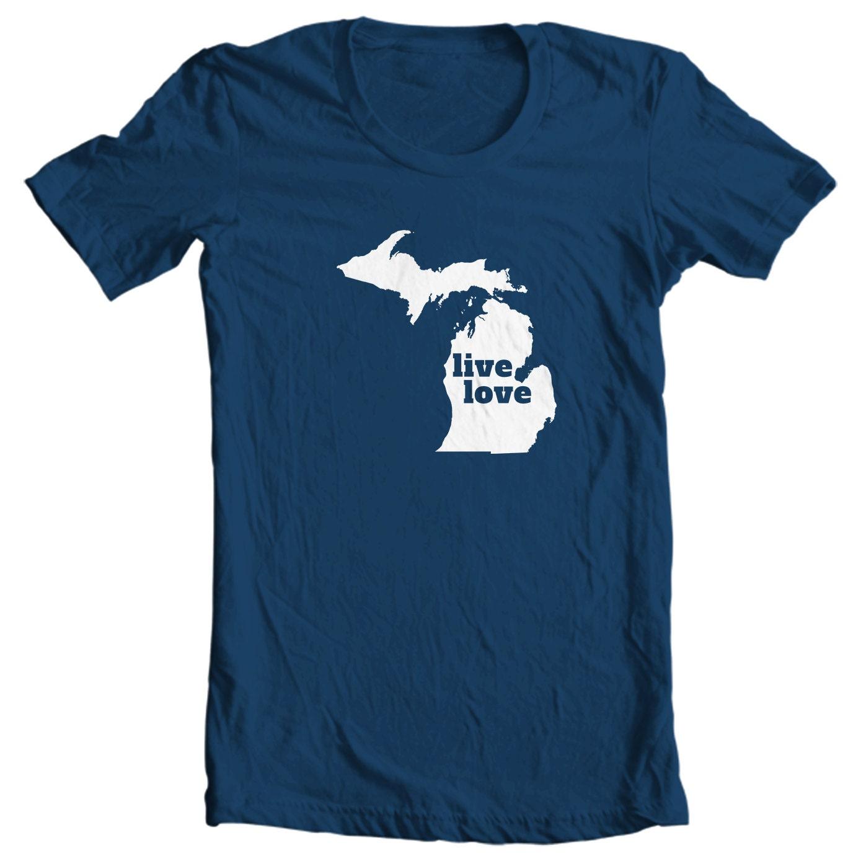 Michigan T-shirt - Live Love Michigan - My State Michigan T-shirt