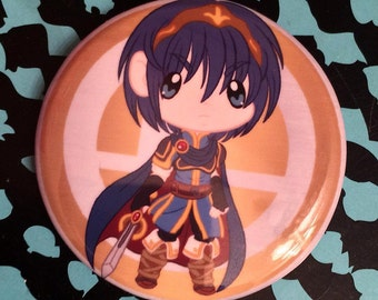 Super Smash Bros. Marth (Fire Emblem) Chibi Button