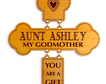 Personalized Mothers Day Gift for God Mother,Valentines day Wall Cross for God Mother, God Mother Plaque Gift,God Parent Appreciation.