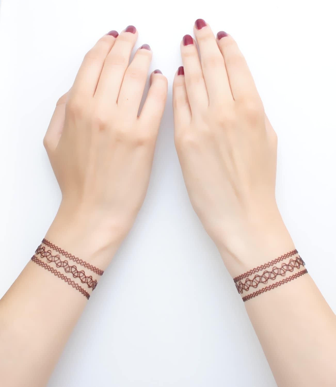Friendship Bracelet Tattoos Friendship Bracelet Tattoos: Henna Tattoo Bracelets Henna Bracelet Tattoo Bracelet