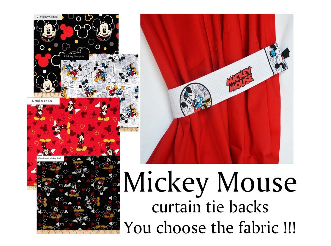 Mickey Mouse Bedroom Curtains Mickey Mouse Valance Etsy