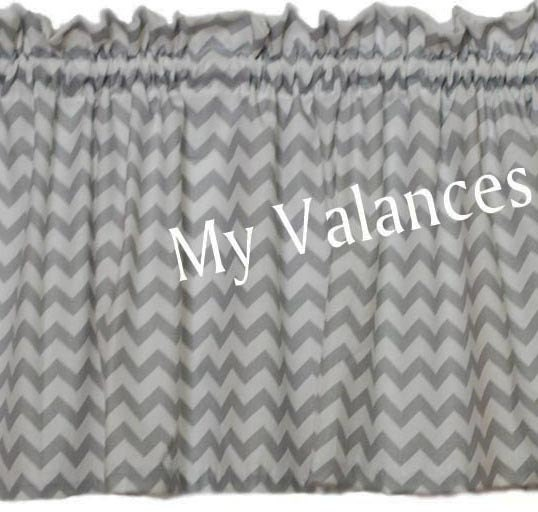 Throw Pillows Moroccan : Grey Chevron curtain valance. Matching panels and throw pillow
