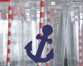 9, Removable Anchor Decals, Multipurpose Vinyl Stickers, Tumbler Stickers, Tumbler Decal, Sticker for Cup, Cups, Anchor Party, Anchor Decor