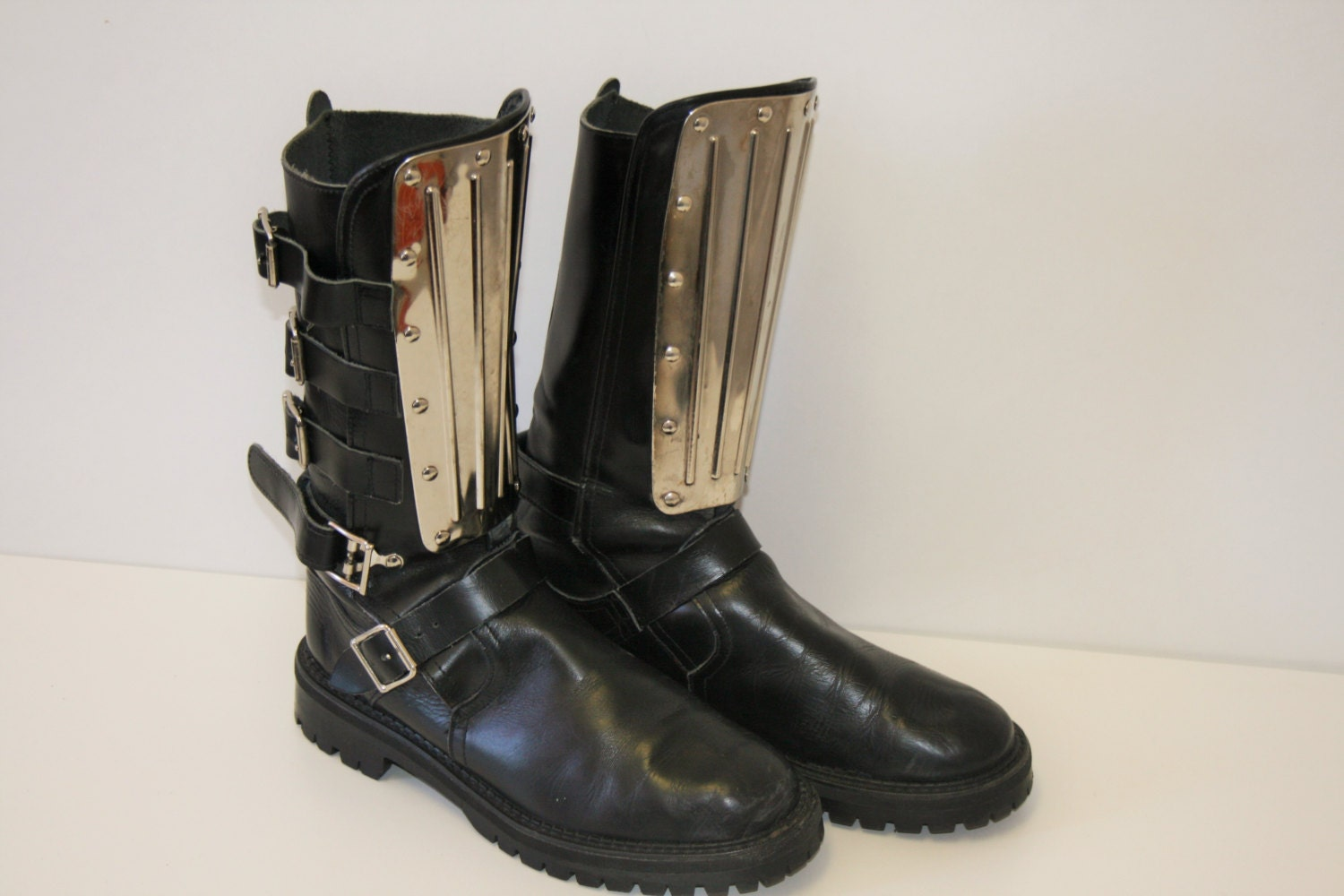 vintage underground warrior boots black leather grunge