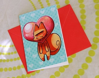 Potato Cats Greeting Card 10x15 cm Tomato