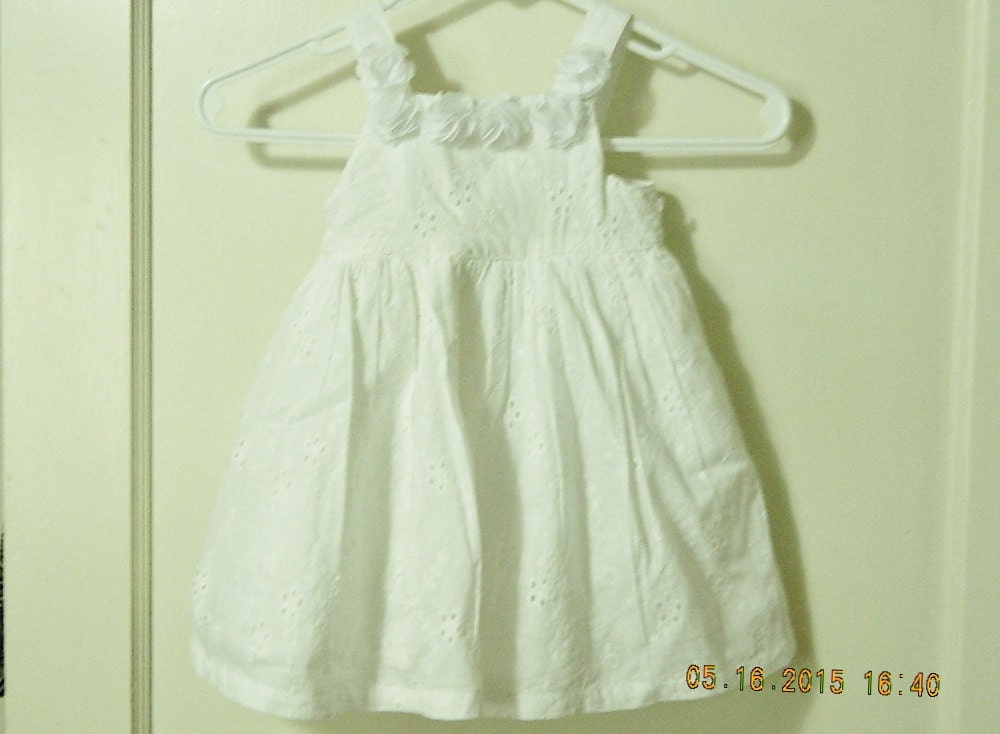 White Eyelet Toddler Sundress with Diaper Panty Flower Girl