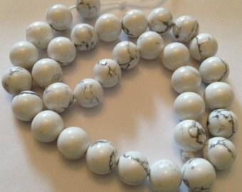 10mm howlite beads