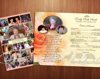 Customized Funeral Program for Loved One