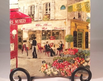 Paris Street Scene Trivet ( hot pad)