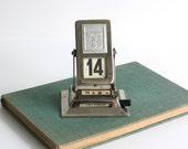 Vintage Perpetual Metal Calendar of 1950s-60s - Made in USSR
