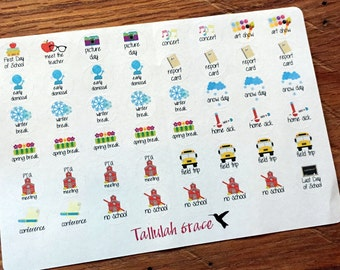 H099 - School Events & Dates Planner Stickers | Perfect for Your Erin Condren Life Planner