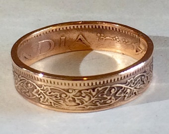 India (British) Pice Coin Ring