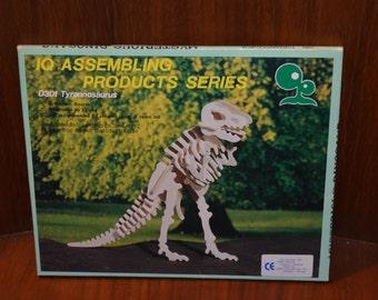 Tyrannosaurus wooden 3d puzzle D301 Children Toys IQ Assembling Products