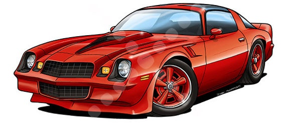 How To Draw a Camaro Sports Car - YouTube