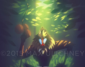 Disney Painting Lion King Rafiki Giclee Art Print