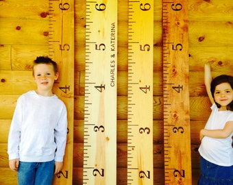 Growth Chart - Growth Ruler - Wood Growth Chart - Growth Chart Ruler - Wooden Growth Chart - Kid Nursery Decor